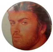 George Michael - 'Side Look' Button Badge